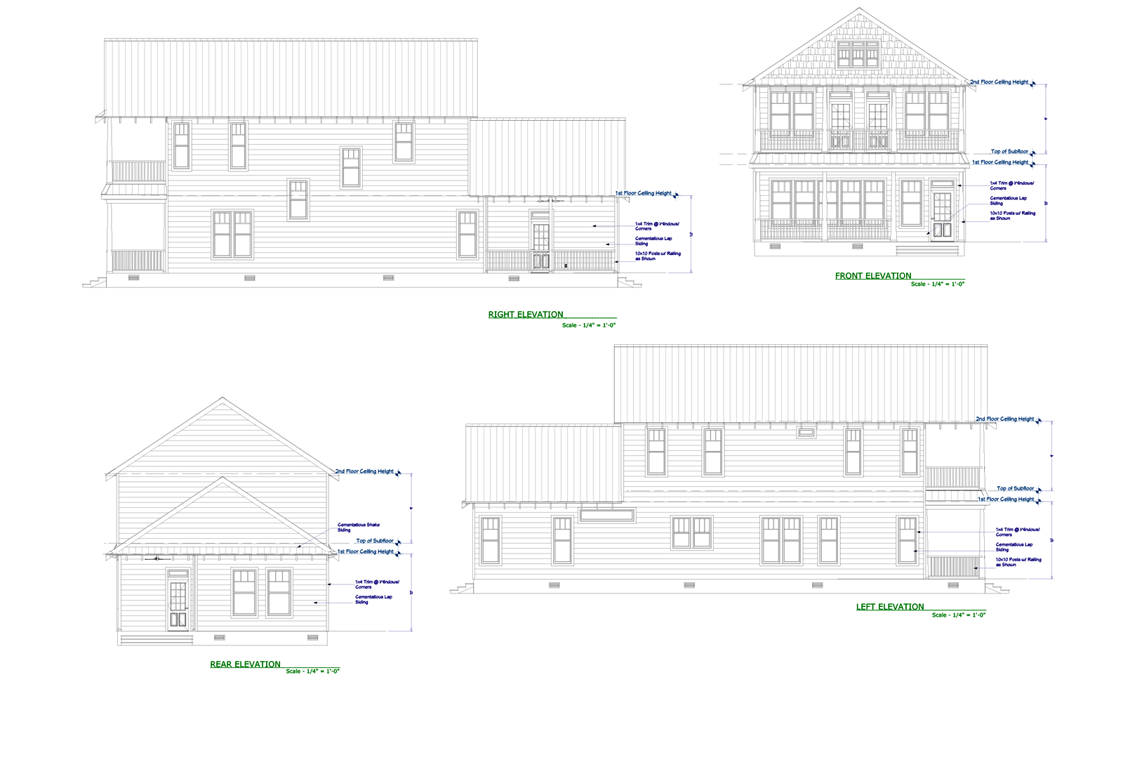 Live Oak Elevation